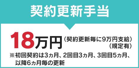 契約更新手当 18万円